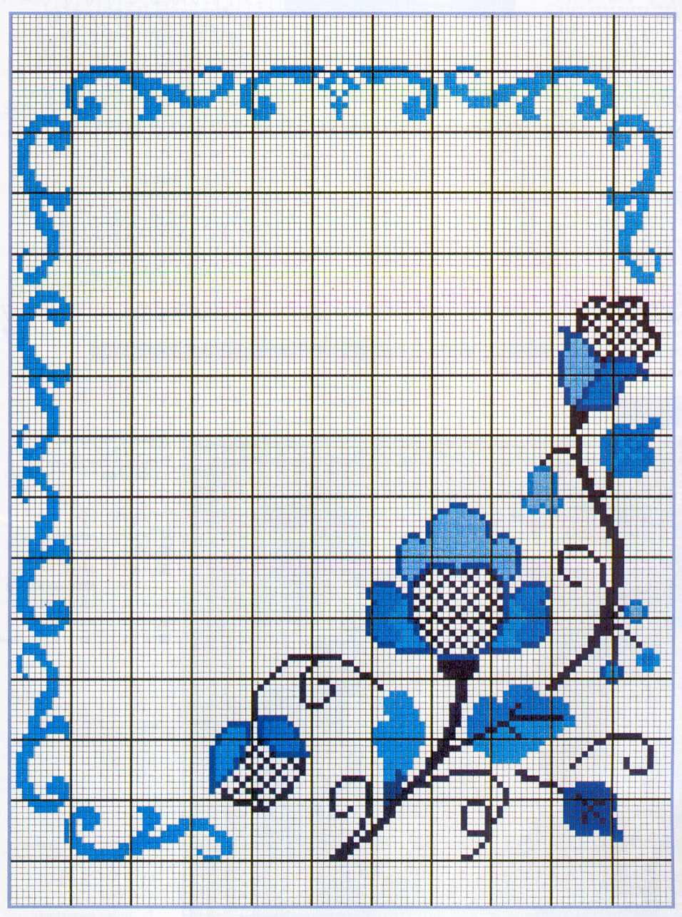 Вышивка крестиком рамка для схема